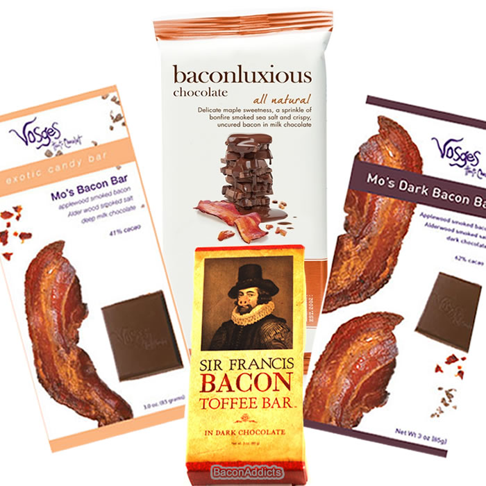 Deluxe Bacon Chocolate Sampler Gift Pack (4pc Set) Vosges Milk Chocolate Bacon Bar, Vosges... by