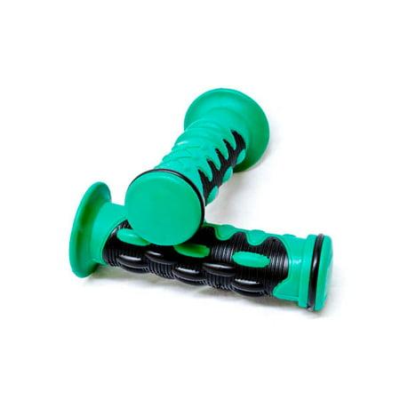 "Green Motorcycle Rubber Hand Grips 7/8"" Bars For Suzuki GSXR 600 750 1000 1300 - image 5 de 5"