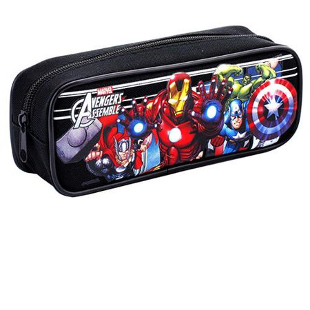 Avengers Character Single Zipper Black Pencil Case](Zombie Pencil Case)