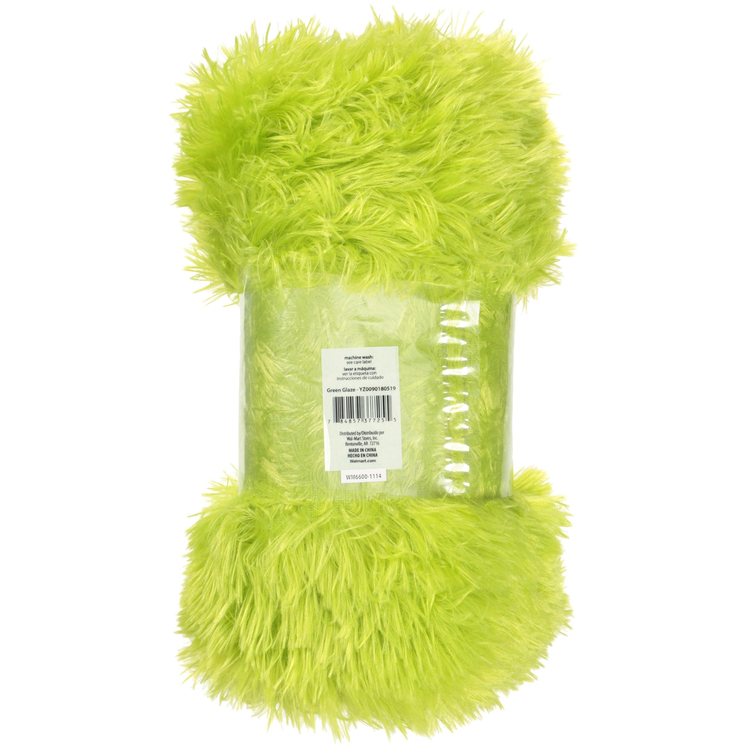 "your zone 50"" x 60"" longhair fur throw Walmart"