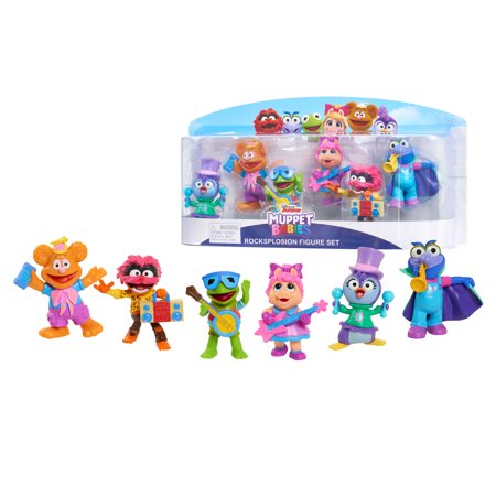 Muppet Babies 6-Piece Rocksplosion Figure Set, Ages 3+