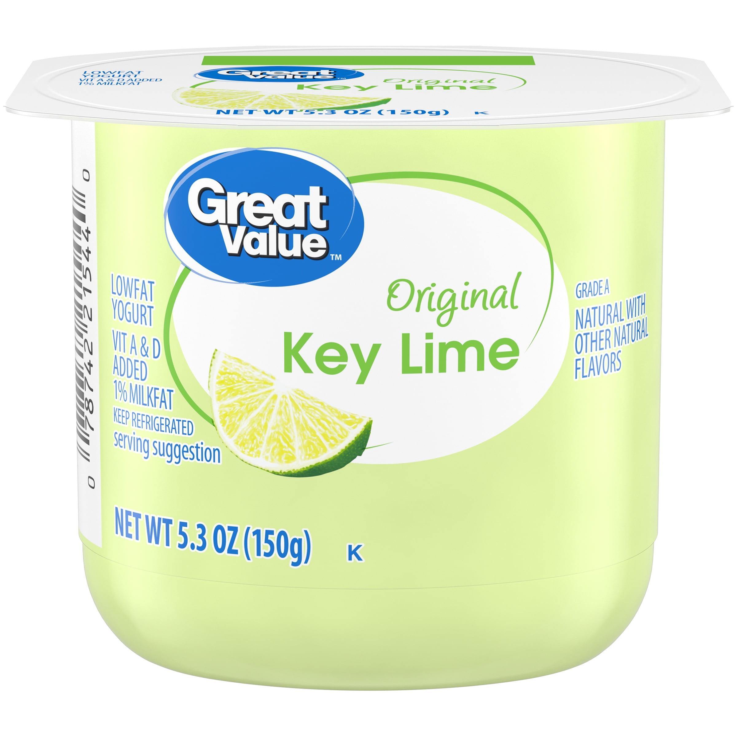 Great Value™ Original Key Lime Lowfat Yogurt 5.3 oz. Cup