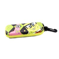 Nickelodeon Spongebob Squarepants & Patric Star Themed Eye Sun Glasses Case Color Pattern Green & Black Chequered