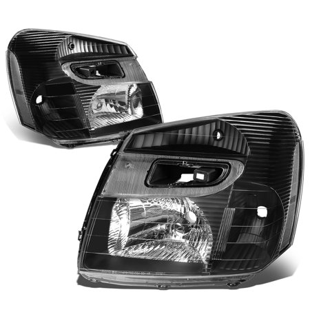 - For 2005 to 2009 Chevy Equinox Headlight Black Housing Clear Corner Headlamp 06 07 08 Left+Right