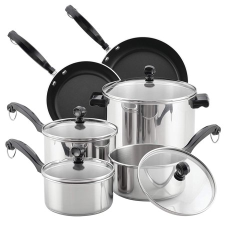 Farberware Classic Series Stainless Steel Cookware Set, -