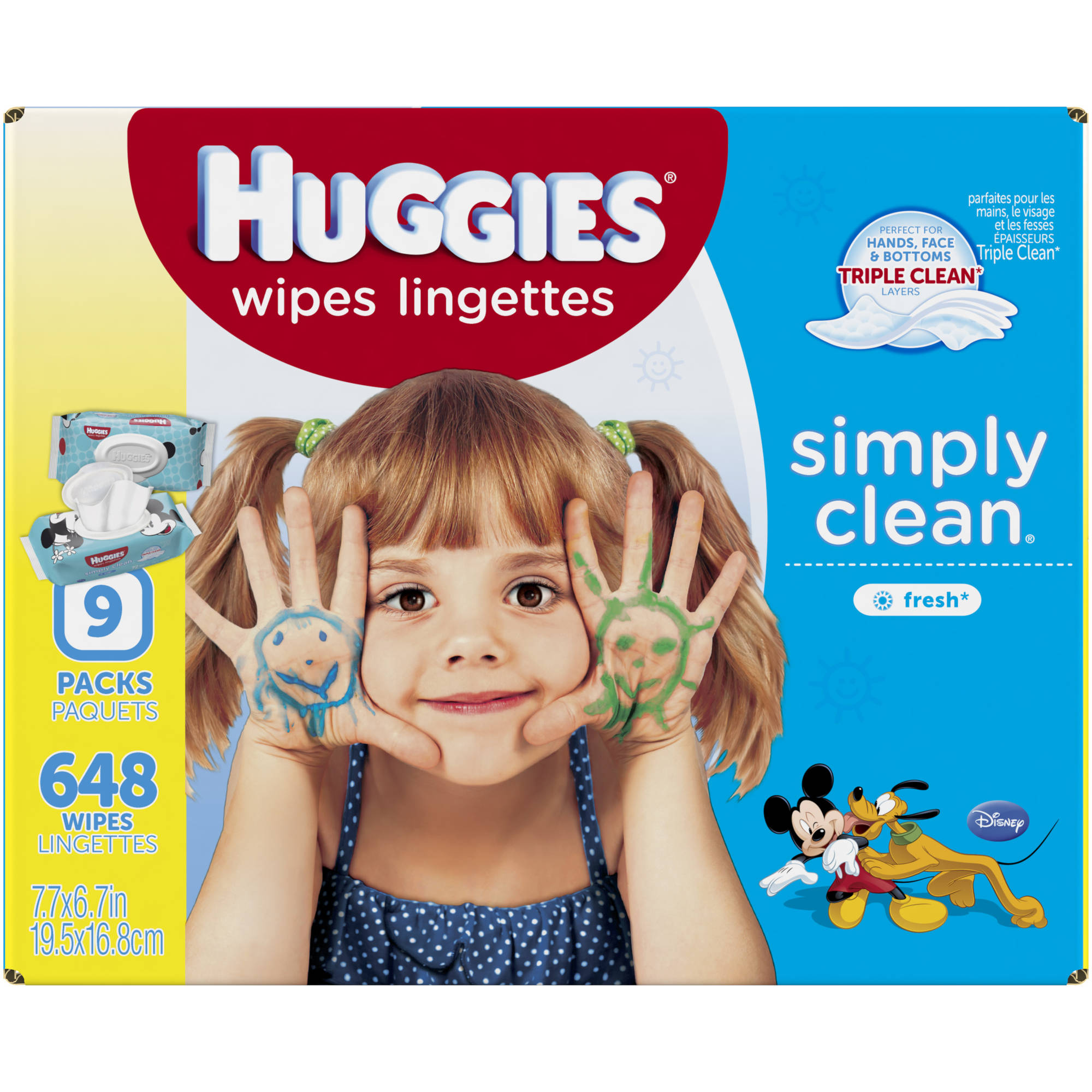 HUGGIES Simply Clean Fresh Baby Wipes Refills, 648 sheets