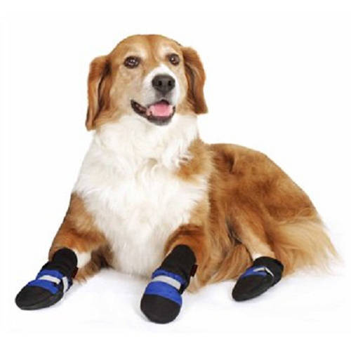 """001012 Fleece Lined Muttluks Dog Boots, Set of 4, Blue, Itty Bitty up to 1.5"""""""