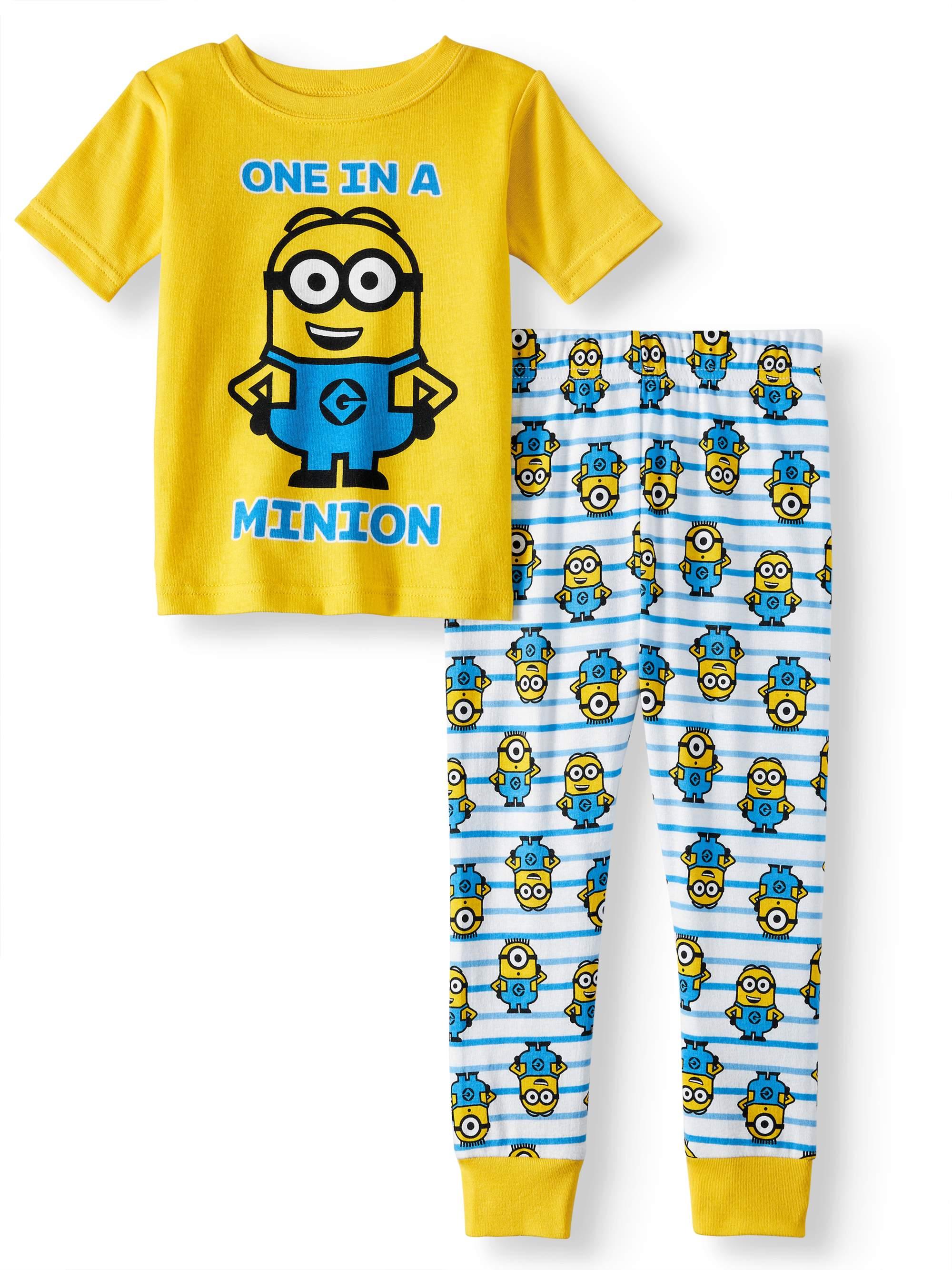 Cotton Tight Fit Pajamas, 2pc Set (Toddler Boys)