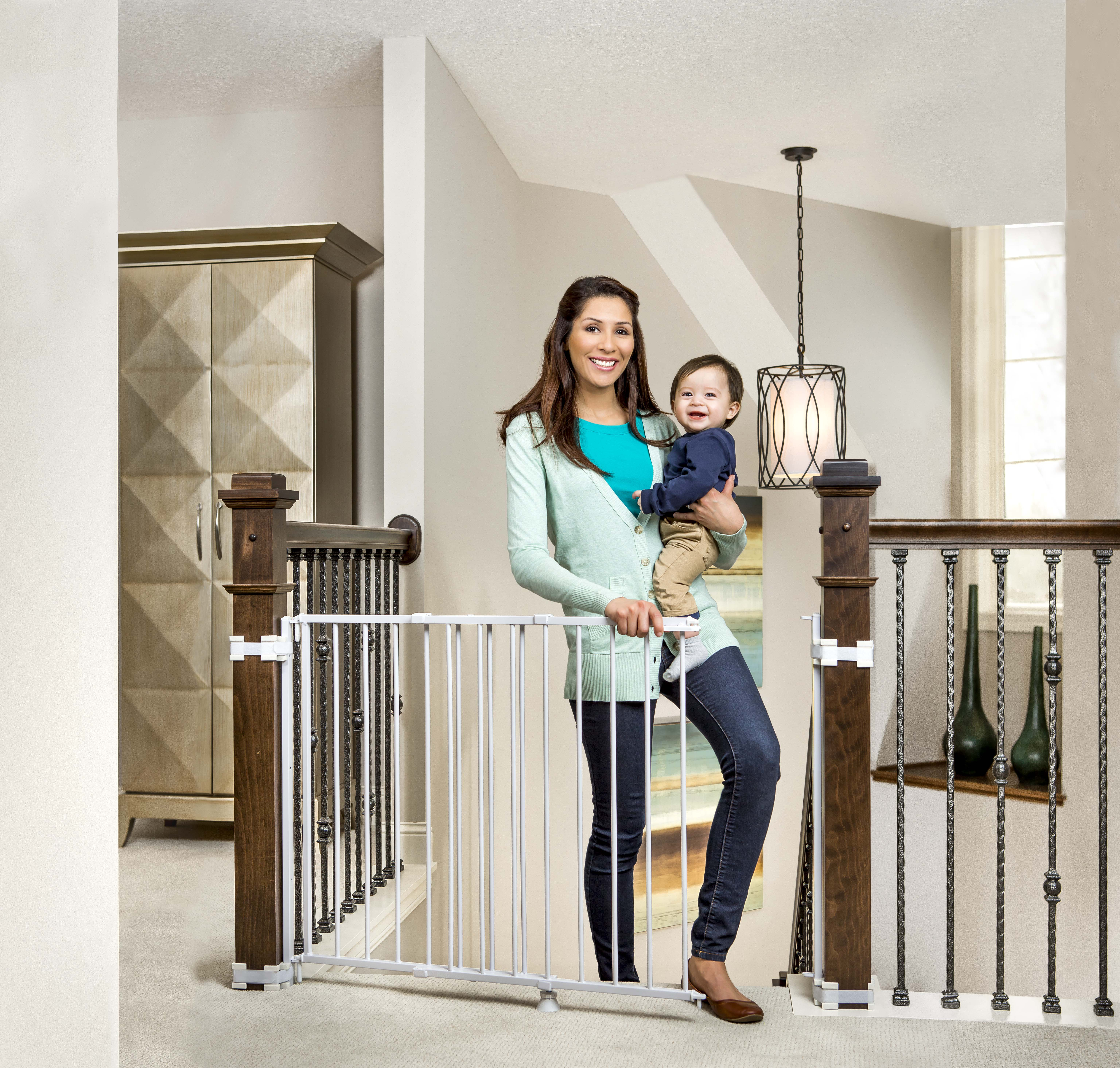 Regalo 2 In 1 Stairway And Hallway Baby Gate, Includes Banister And Wall  Mounting Kits
