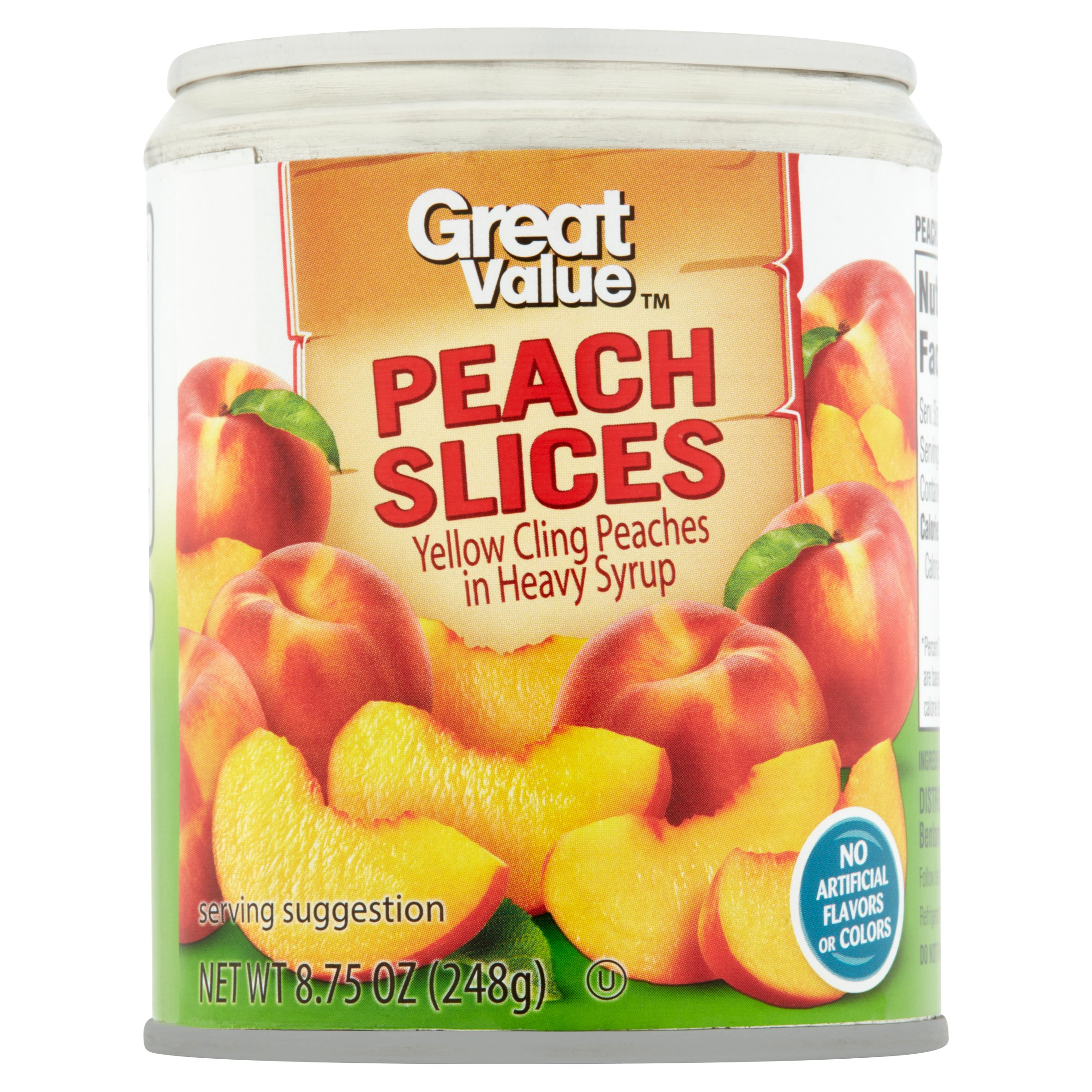 Great Value Peach Slices 8.75 oz