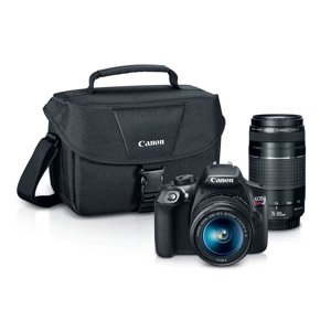 Canon EOS Rebel T6 EF-S 18-55mm + EF 75-300mm Double Zoom Kit