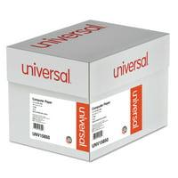 Universal Green Bar Computer Paper, 15lb, 14-7/8 x 11, Perforated Margins, 3000 Sheets