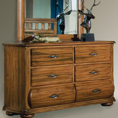 American Woodcrafters Timberline 6 Drawer Dresser with Mirror