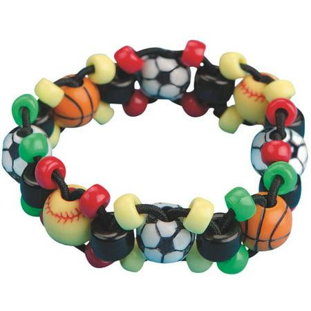 Sport Bead Bracelet Craft Kit Pack Of 12