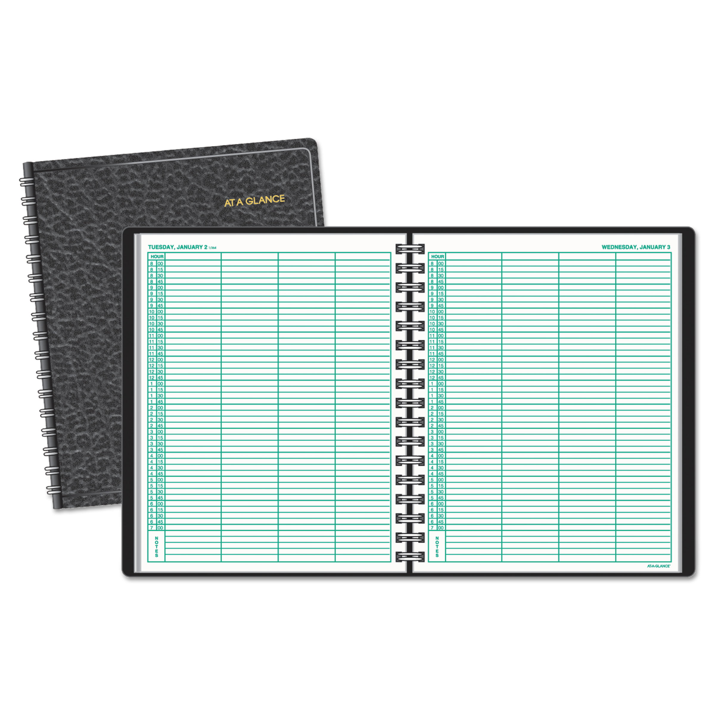 AT-A-GLANCE Four-Person Group Daily Appointment Book, 8 x 10 7 8, White, 2018 by AT-A-GLANCE