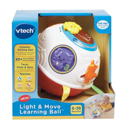 item VTech Light and Move Baby Learning Ball, baby shape sorter with 3 shape Red