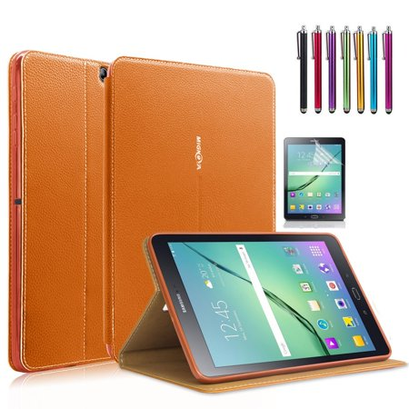 Samsung Galaxy Tab S2 8.0 Case, Mignova - Auto Sleep /Wake, Card Pocket, KickStand Feature, Premium PU Leather Folio Smart Cover Case + Screen Protector Film and stylus pen
