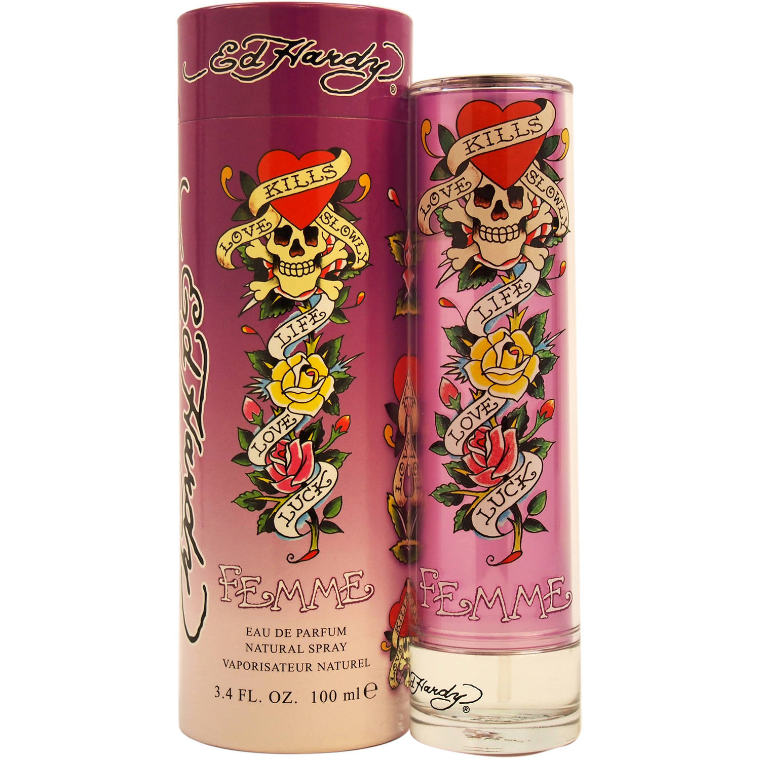 Ed Hardy Femme by Christian Audigier for Women - 3.4 oz EDP Spray