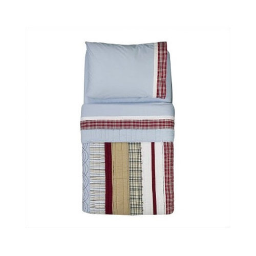 Bundle-53 Bacati Boys Stripes and Plaids Toddler Bedding Set