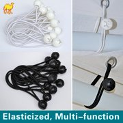 """STRONG CAMEL Ball Bungees Cord Tarp Party Tent Tie Downs Bungee Canopy Gazebo Straps -6""""-BLACK(100PCS)"""
