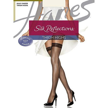 - Silk Reflections Thigh Highs, Sandalfoot 3-Pack