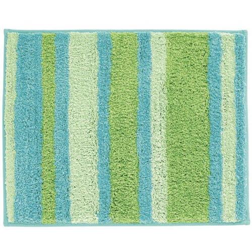 "InterDesign Microfiber Stripes Bathroom Shower Rug, 21""x 17"""