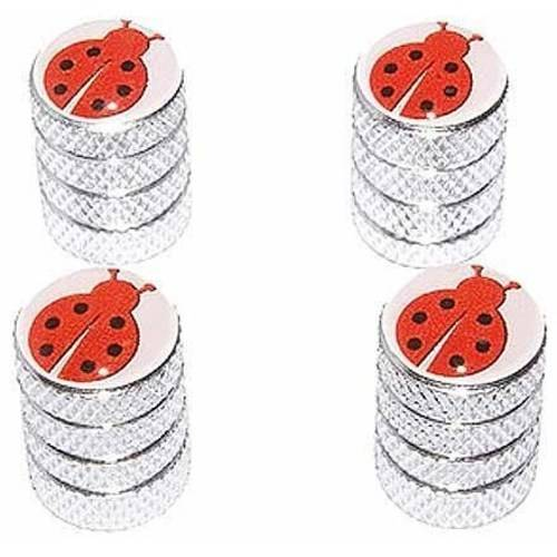 Ladybug Lady Bug Tire Rim Wheel Aluminum Valve Stem Caps, Multiple Colors](Light Up Tire Caps)