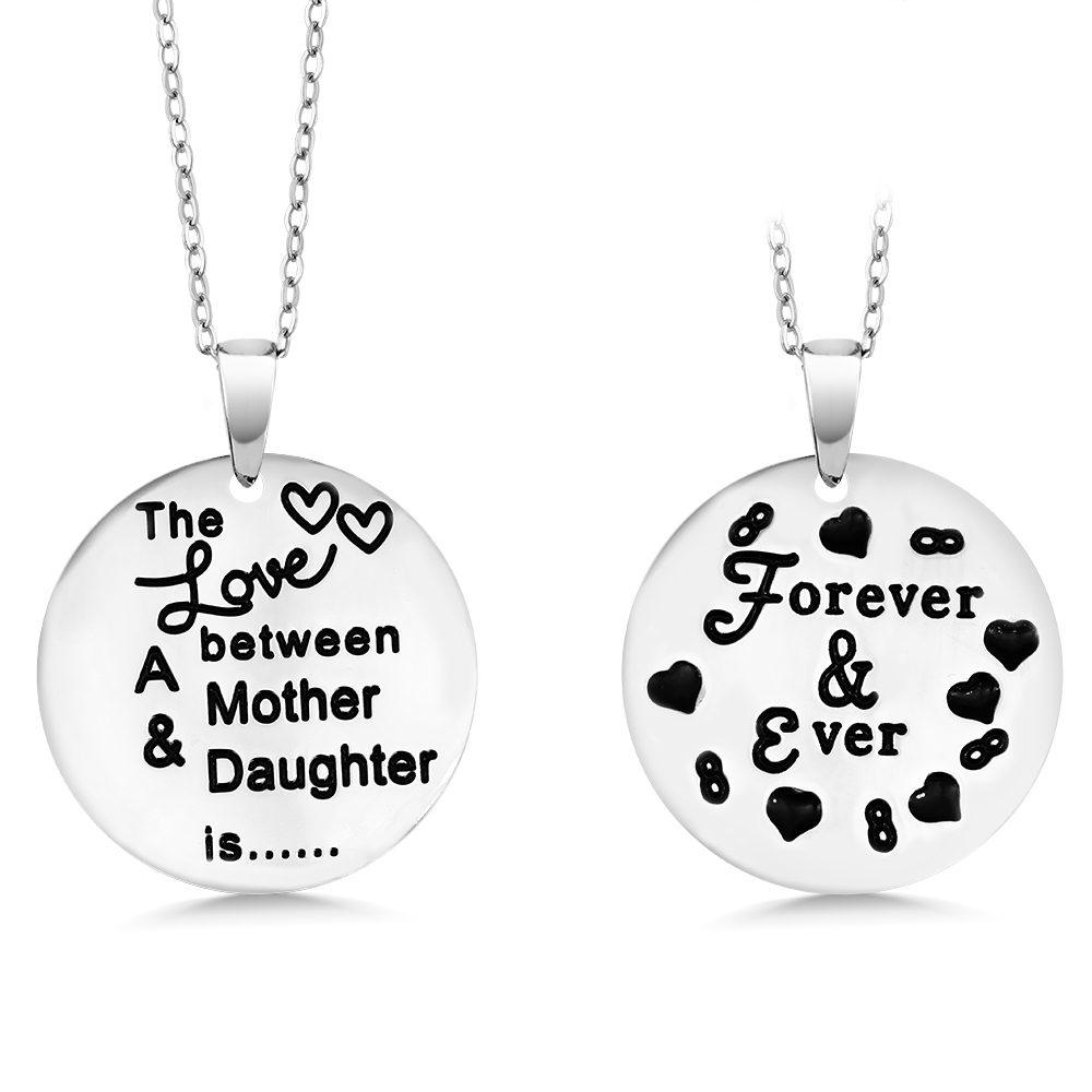 The Love Between a Mother and Daughter is…Forever & Ever' Necklace (1 Necklace.  Pictures shows front and back)