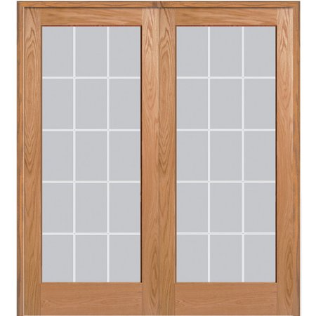 Verona home design wood 2 panel red oak interior french for French doors 1190