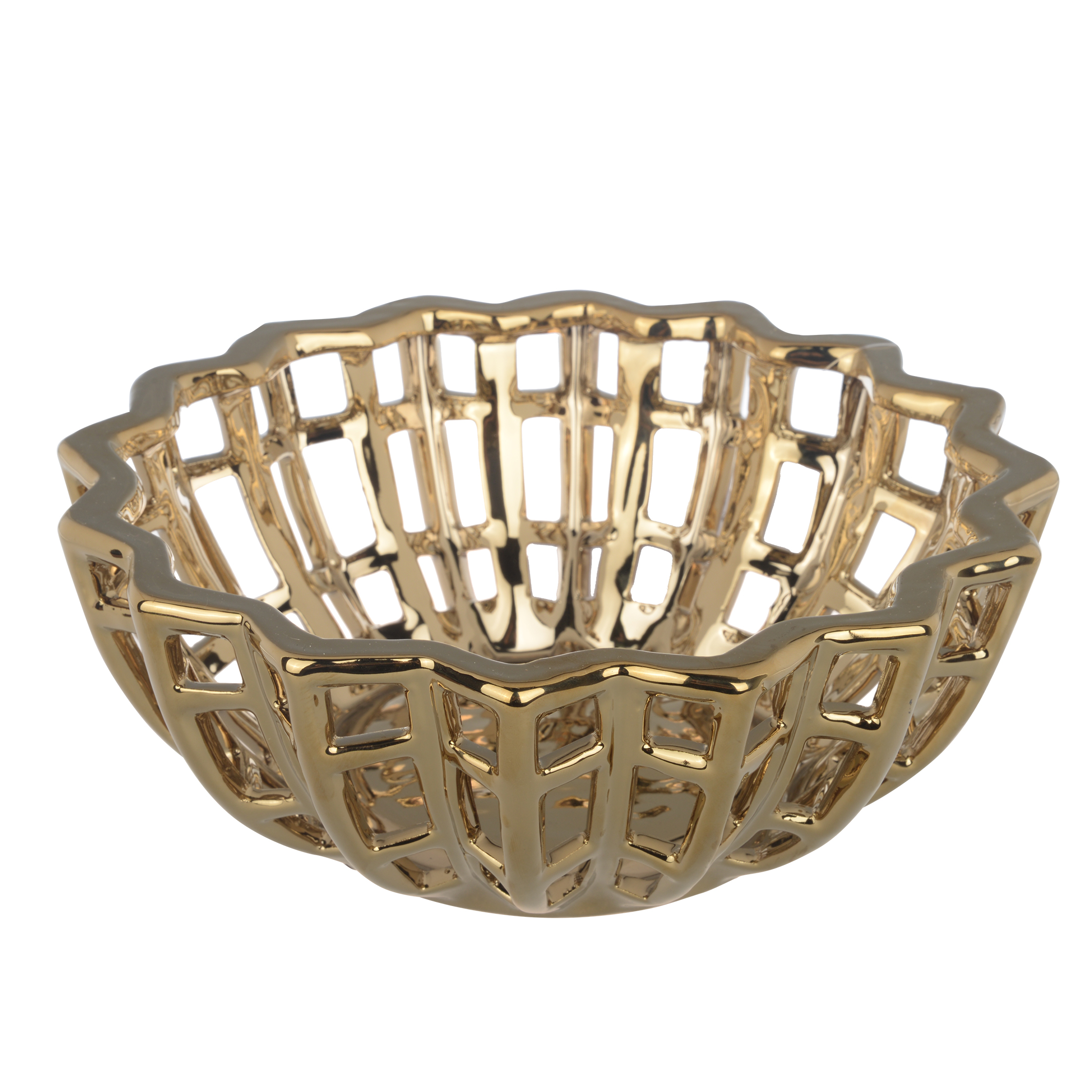 A&B Home Manzu Decorative Bowl, 9.5 by 3.5-Inch by A&B Home