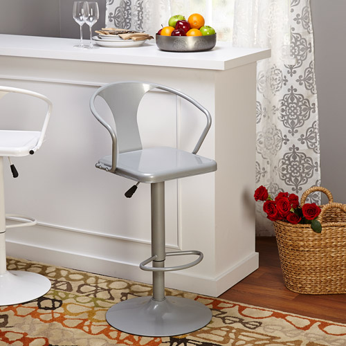 Retro Max Adjustable Height Swivel Barstool, Multiple Colors