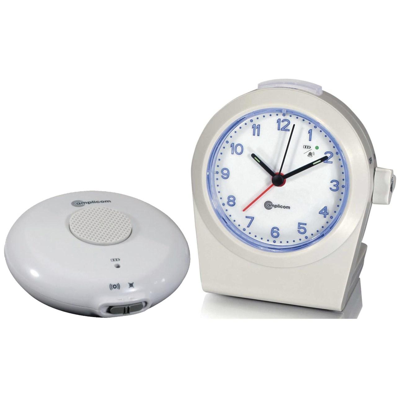 Amplicom Alarm Clock-Ring Signaler with Vibrator