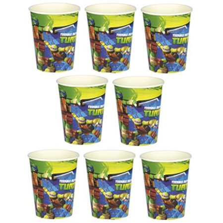 nickelodeon mutant teenager ninja turtle birthday party 9oz of 16x paper cup ~ birthday party supplies favors](Ninja Turtle Birthday Party)