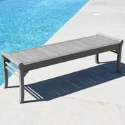 Renaissance Eco-friendly 5-foot Backless Outdoor Hand-scraped Hardwood Garden Bench