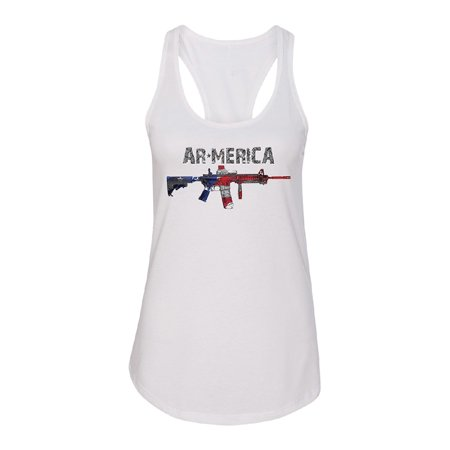Second Amendment Right To Keep And Bear Arms - AR-MERICA 2nd Amendment Keep & Bear Arms Women's Racerback Souvenir