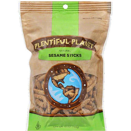 Plentiful Planet Natural Sesame Sticks, 10 oz, (Pack of 6)