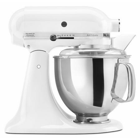 KitchenAid Artisan Series 5 Quart Tilt-Head Stand Mixer, White (KSM150PSWH)