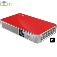 Vivitek Qumi Q3 Plus 500 Lumen Ultra HD 720p Pocket DLP Projector with Wi-Fi Red - (Certified Refurbished)
