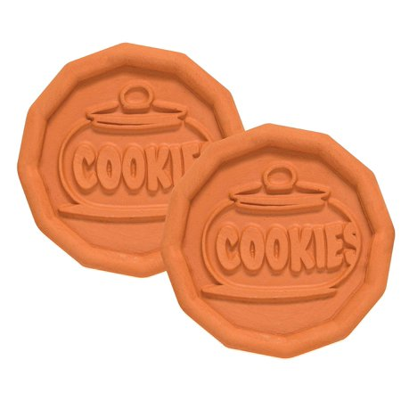 Mrs. Anderson's Baking Brown Sugar Saver, Sugar Cookie Design, Natural Terracotta, Keeps Brown Sugar Softer, Set of