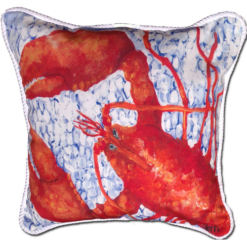 My Island Lobster Indoor/Oudoor Throw Pillow