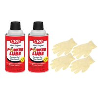 CRC Power Lube Multi-Purpose Lubricant (9 Wt Oz) Bundle with Latex Gloves (6 Items)