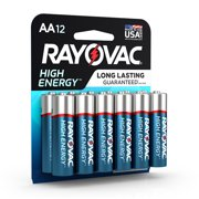 Rayovac High Energy Alkaline, AA Batteries, 12 Count