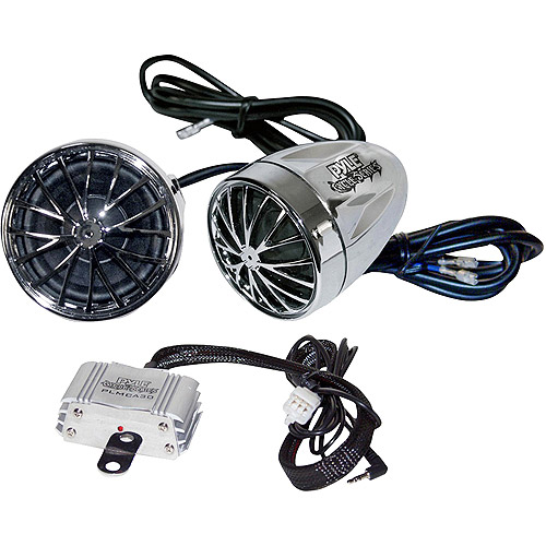 Pyle Motorcycle Mount Amplified 200W x 2 Stereo Sound System, PLMCA30