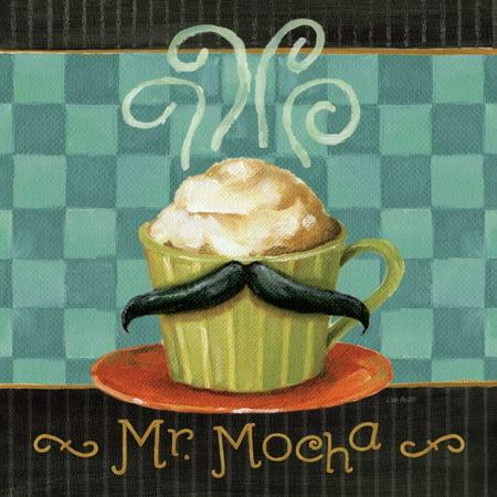 Cafe Moustache V Square Poster Print by Lisa Audit