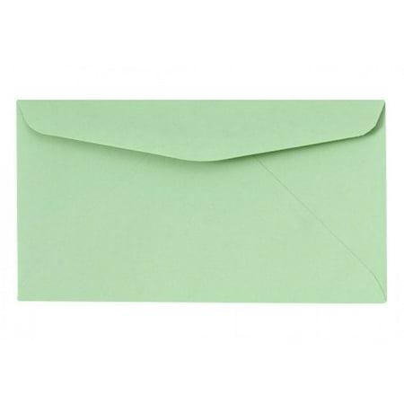 #6 3/4 Pastel Green Regular Envelopes - Packes of 500