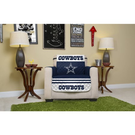Nfl licensed furniture protector chair dallas cowboys for Furniture one dallas