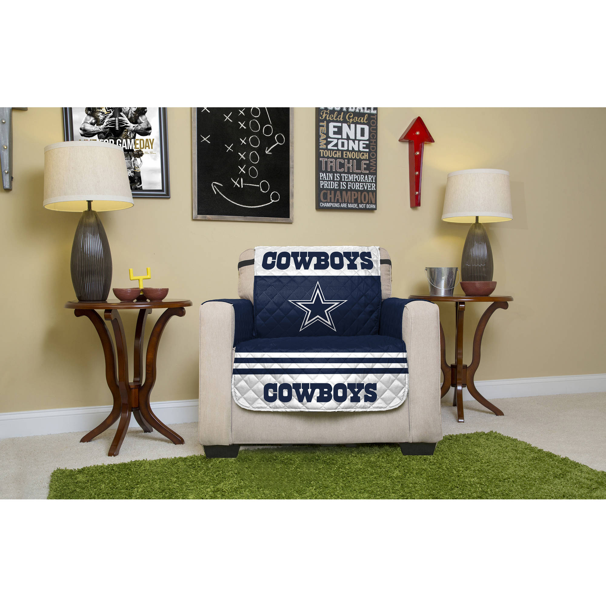 NFL Licensed Furniture Protector, Chair, Dallas Cowboys