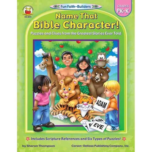 Name That Bible Character!: Grades PK-K