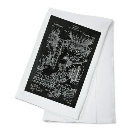 Blackboard Patent - Houdini Diving Suit - Lantern Press Artwork (100% Cotton Kitchen - 100% Linen Suit