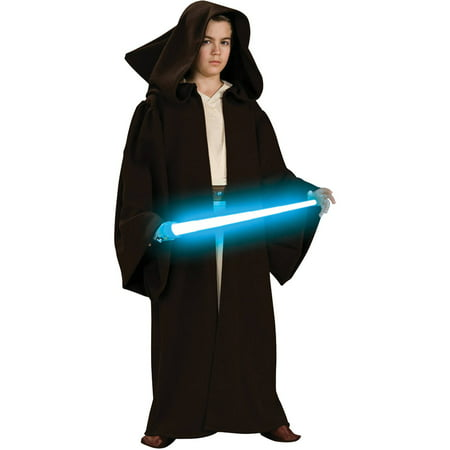 Star Wars Boys Super Deluxe Jedi Hood Robe Halloween Costume - Star Wars Robes